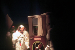Figure Page 20-- Astronaut Mike Collins prepares to enter the Astro van on July 15, 1969.