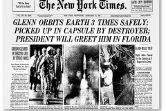 Figure Page 34-- John Glenn became the first American to orbit the Earth on Feb. 20, 1962.