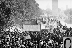 Figure Page 60-- In 1967 there were increasing protests against the Vietnam War including this march which drew 100,000 people to Washington, D.C. on October 21, 1967.