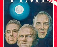 "Figure Page 76--   The Apollo 8 crew of Frank Borman, James Lovell and Bill Anders was named Time magazine's ""Men of the Year"" for 1968."