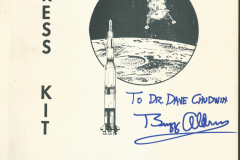 Figure Page 105--  The Apollo 11 Press Kit book which was available at the Apollo 11 News Center.  This copy was later inscribed to me by astronaut Buzz Aldrin.